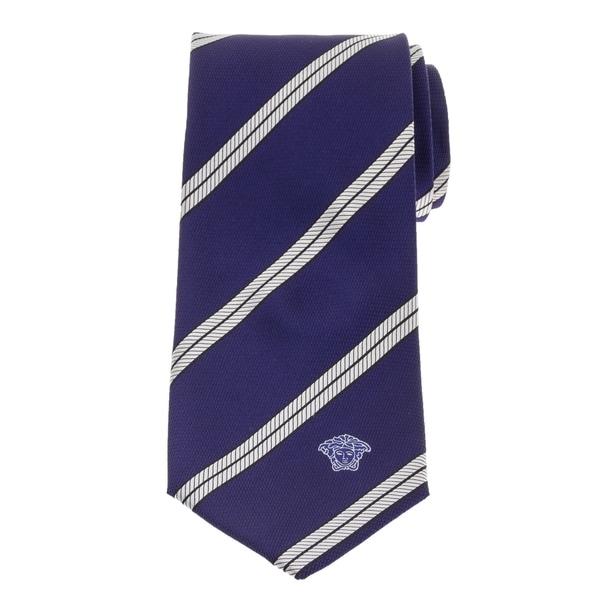 Versace Mens British Regimental Striped Silk Tie