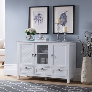 Traditional 3 Drawers White Console Table