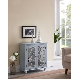 Contemporary 1 Shelve Grey Silver Console Table