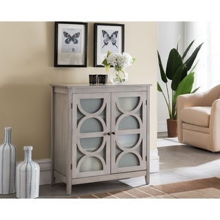 Contemporary 2 Shelves Wash Grey Console Table