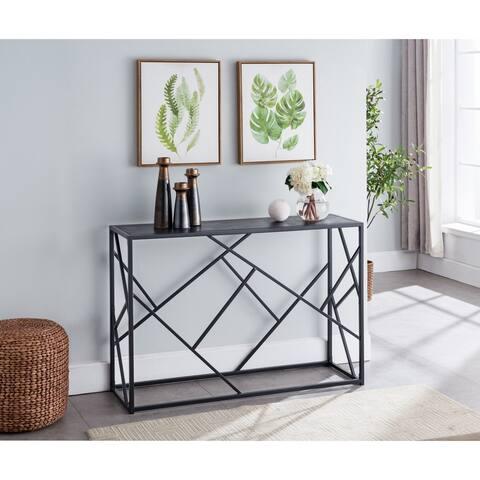 Porch & Den Royjean Contemporary Black Console Table