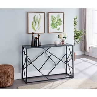 Porch & Den Royjean Contemporary Black Console Table
