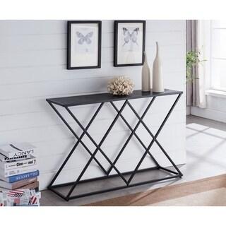 Porch & Den Rubus Contemporary Black Console Table