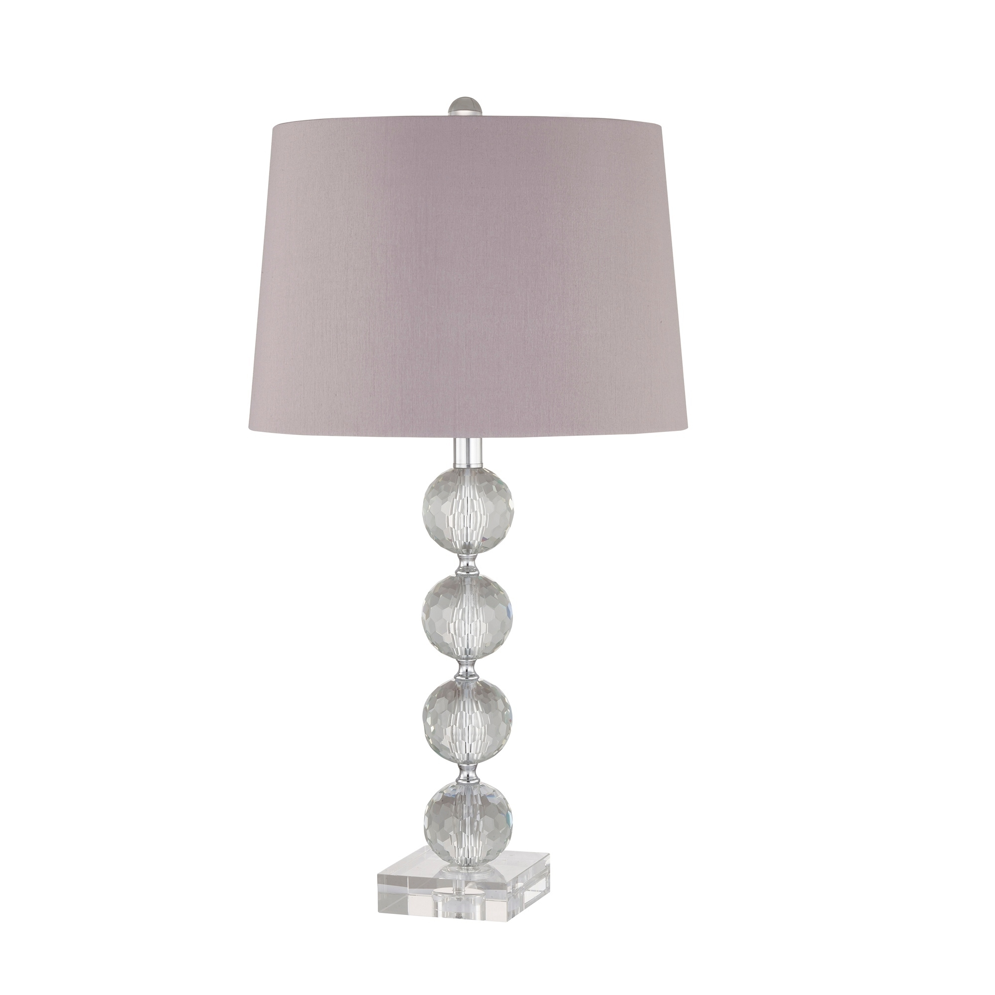 Image of: Shop Black Friday Deals On Glass 28 3 Ball Table Lamp Clear Overstock 28369136