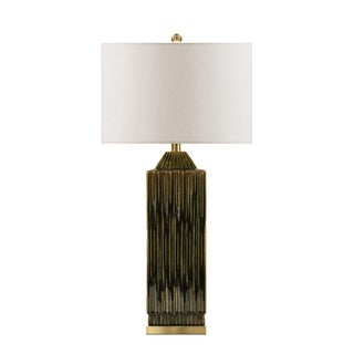 """Link to Ceramic 30"""" Art Deco Table Lamp, Green Similar Items in Table Lamps"""