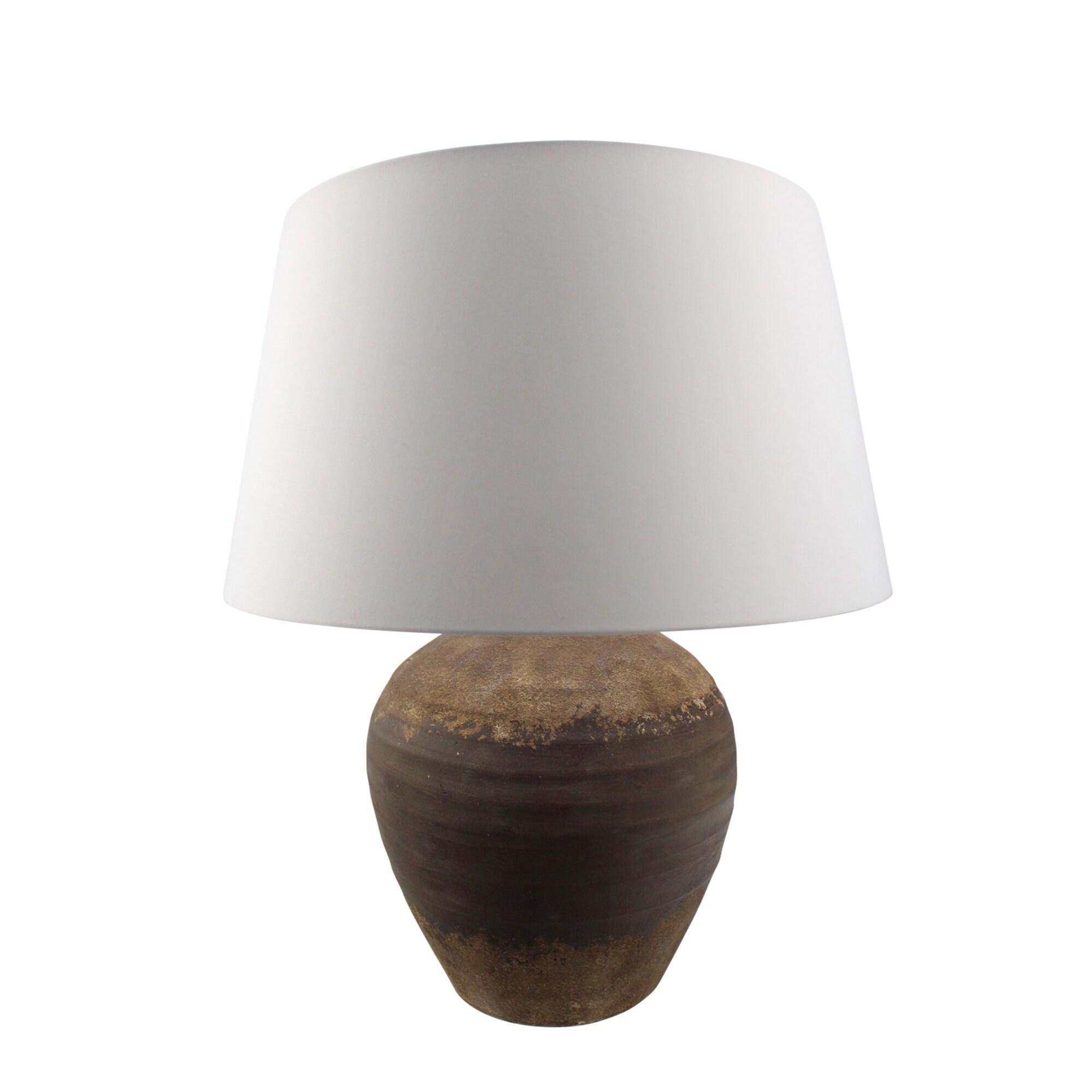 Ceramic 28 Urn Table Lamp Brown Overstock 28369302