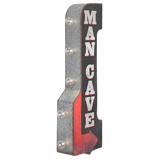 Man Cave Double Sided Off the Wall LED Marquee Light Up Sign for Bar, Garage or Man Cave