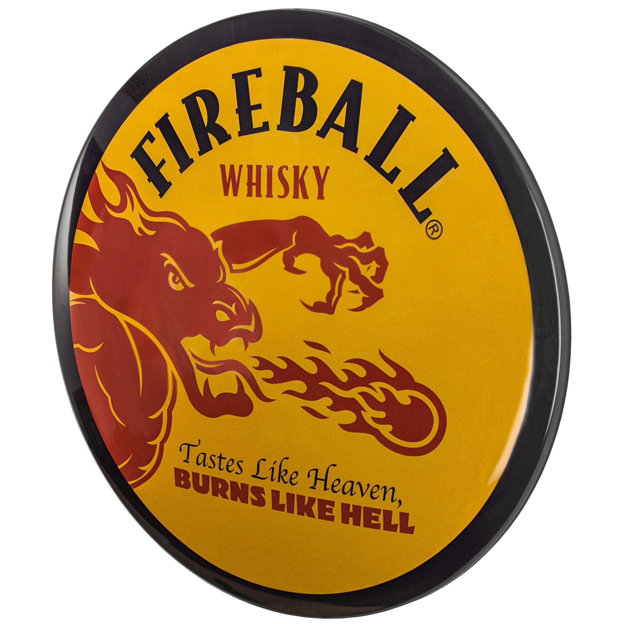 "Tastes Like Heaven Burns Like Hell Fireball Whisky 36/"" Double Sided LED Sign"