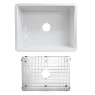 Highpoint Collection Undermount Fireclay Kitchen Or Bar Sink - 23.5 x 18 x 9 inches