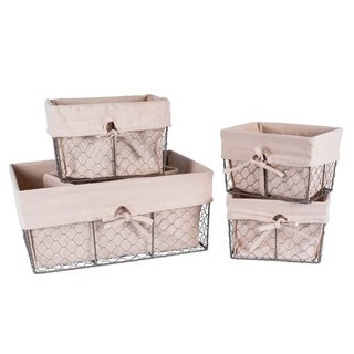 DII Chicken Wire Basket (Set of 5) Natural