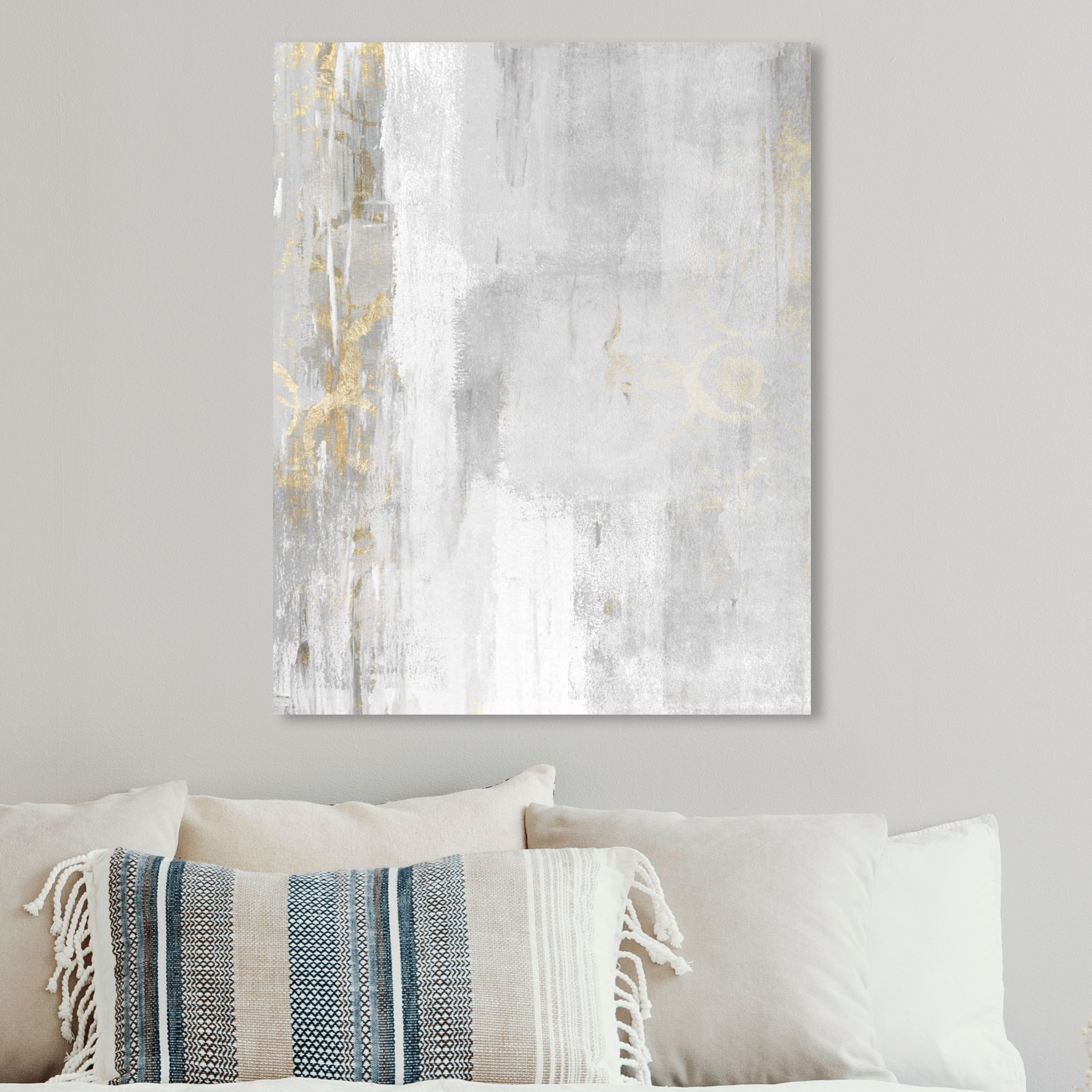 Oliver Gal Abstract Elegance Wall Art Canvas Print White Gray Overstock 28369947