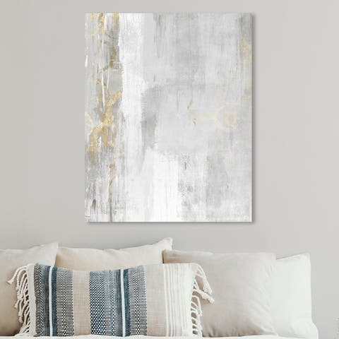 Oliver Gal 'Abstract Elegance' Abstract Wall Art Canvas Print - White, Gray