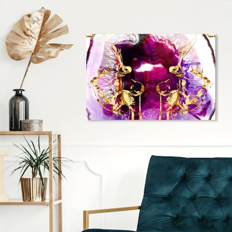 Oliver Gal 'Smoking Agate' Abstract Wall Art Canvas Print - Pink, Purple