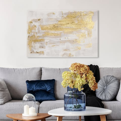 Oliver Gal 'Pure Love' Abstract Wall Art Canvas Print - Gold, White