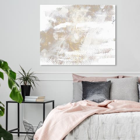 Oliver Gal 'Porcelain' Abstract Wall Art Canvas Print - White, Gold