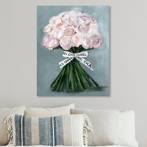 Oliver Gal 'The Perfect Bouquet' Floral and Botanical Wall Art Canvas Print - Pink, Gray