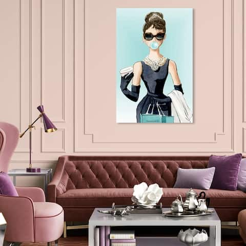 Silver Orchid 'Bubble Gum Jewelry' People and Portraits Wall Art Canvas Print