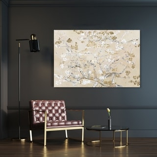 Link to Oliver Gal 'Van Gogh in Golden Blossoms Inspiration' Floral and Botanical Wall Art Canvas Print - Gold, White Similar Items in Canvas Art