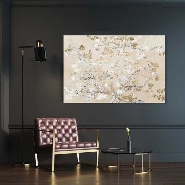 Oliver Gal 'Van Gogh in Golden Blossoms Inspiration' Floral and Botanical Wall Art Canvas Print - Gold, White. Opens flyout.