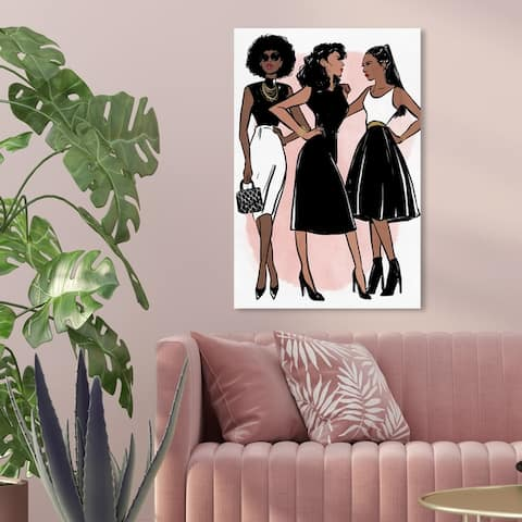 Oliver Gal 'Lovely Gals' Fashion and Glam Wall Art Canvas Print - Black, White