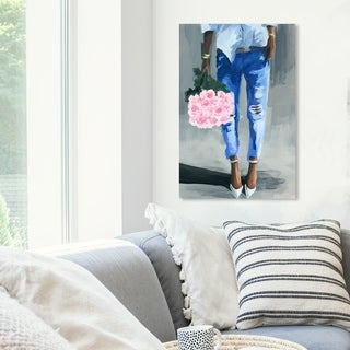 Link to Oliver Gal 'Me and My Bouquet' Fashion and Glam Wall Art Canvas Print - Pink, Blue Similar Items in Matching Sets