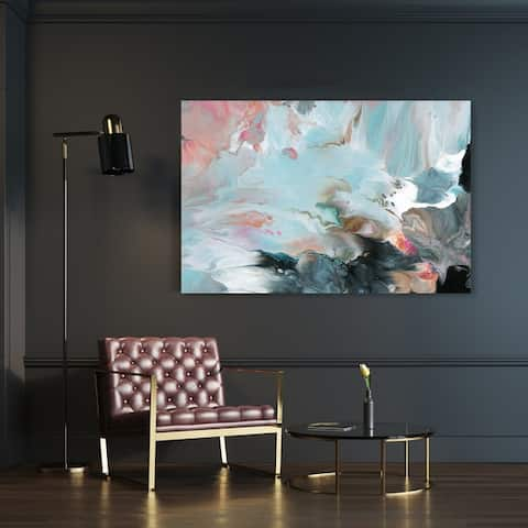 Oliver Gal 'Dreaming in Colors' Abstract Wall Art Canvas Print - Blue, Pink