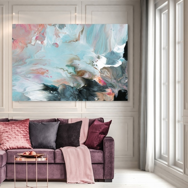 Awe Inspiring Shop Oliver Gal Dreaming In Colors Abstract Wall Art Home Interior And Landscaping Staixmapetitesourisinfo