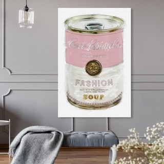 Oliver Gal 'Fashion Soup Pink' Fashion and Glam Wall Art Canvas Print - Pink, White