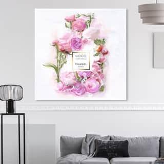 Silver Orchid 'Bottle Bouquet ' Wall Art Canvas Print