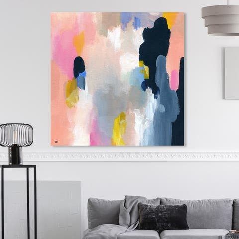 Oliver Gal 'Happy Thoughts' Abstract Wall Art Canvas Print - Orange, Blue