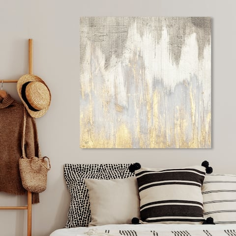Oliver Gal 'Golden Caves' Abstract Wall Art Canvas Print - Gray, Gold