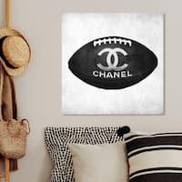 Oliver Gal 'Fashion Football' Fashion and Glam Wall Art Canvas Print - Black, Gray