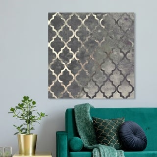 Link to Oliver Gal 'Arabesque Silver' Abstract Wall Art Canvas Print - Gray Similar Items in Wood Wall Art
