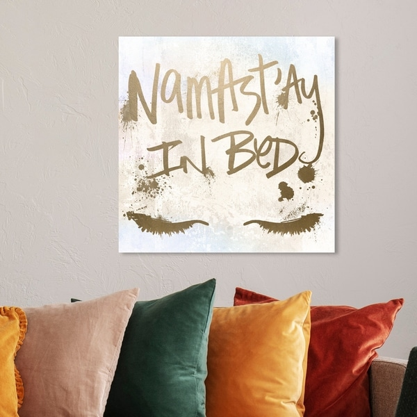 Shop Oliver Gal Namastay In Bed Typography And Quotes Wall Art