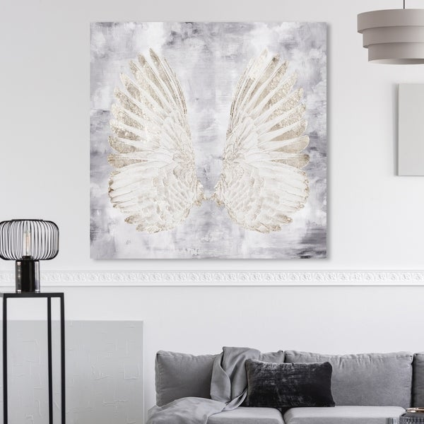 Small Black Feather Angel Wings 12 X 16 Inches