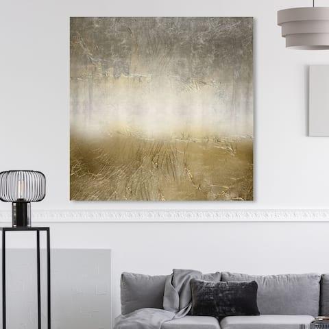 Oliver Gal 'Magari' Abstract Wall Art Canvas Print - Gold, Gray