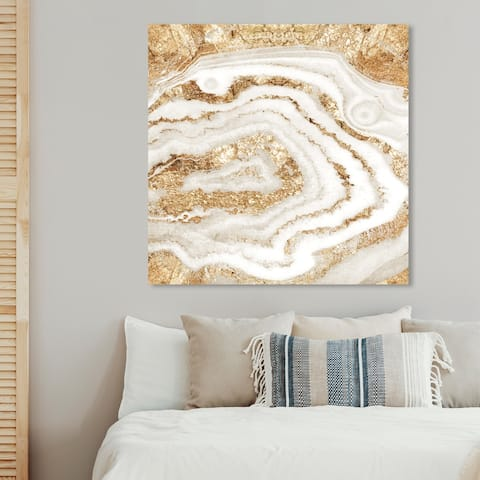 Oliver Gal 'Gold Agate' Abstract Wall Art Canvas Print - Gold, White