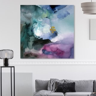 Link to Oliver Gal 'Nebulosa Abstract' Abstract Wall Art Canvas Print - Purple, Green Similar Items in Vinyl Wall Art