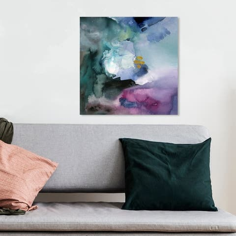 Oliver Gal 'Nebulosa Abstract' Abstract Wall Art Canvas Print - Purple, Green