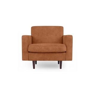 Eleanor Mid-Century Club Chair, Full Grain Aniline Leather