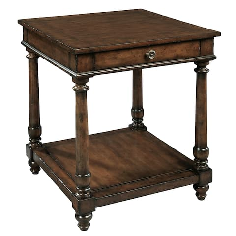 Square Solid Wood Lamp Accent Table - Hekman