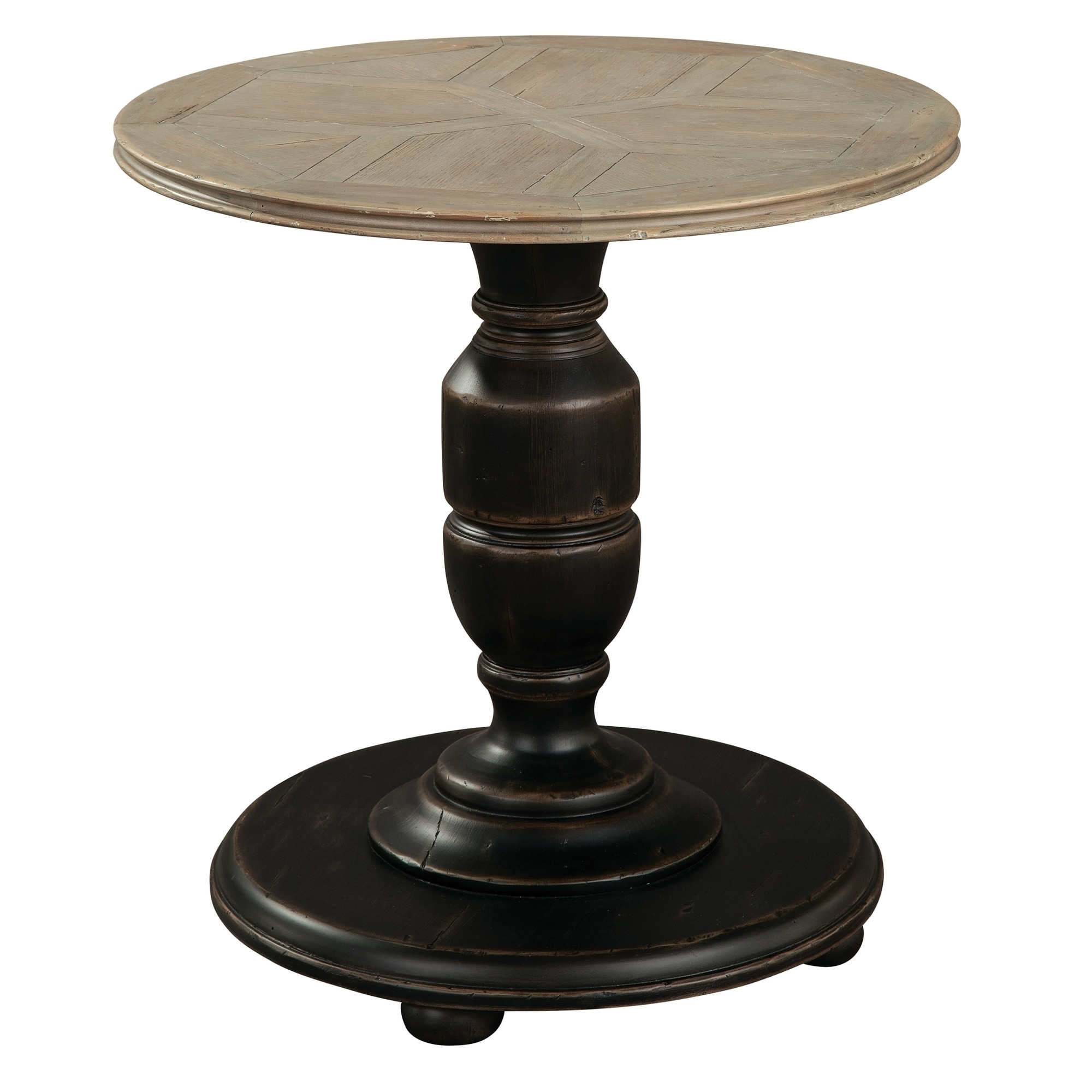 - Shop Round Solid Wood Pedestal End Accent Table - Hekman