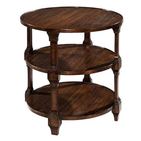 Round Solid Wood Lamp Accent Table - Hekman