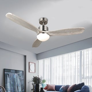 "Link to CO-Z 52"" 3-blade LED Ceiling Fan with Solid Wood Blades and Remote Control Similar Items in Ceiling Fans"