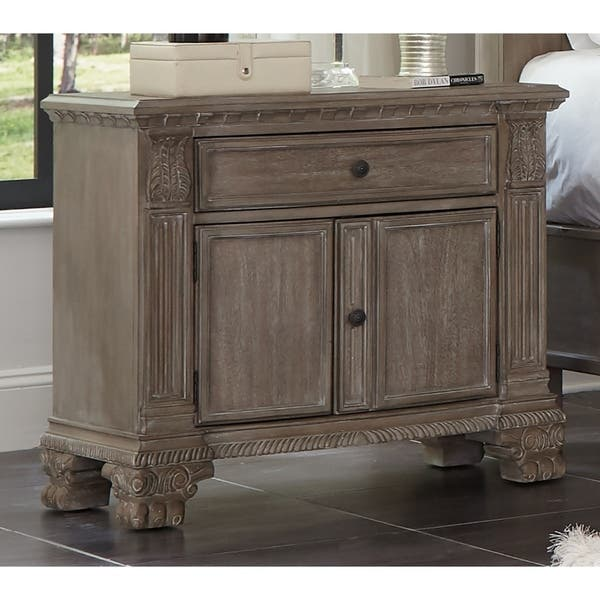 Shop Colby Ivory and Vintage Grey 4-piece Bedroom Set with 2 ...