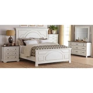 Danica Latte and Vintage White 4-piece Panel Bedroom Set