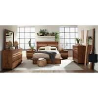 Alberta Smokey Walnut 6-piece Platform Bedroom Set
