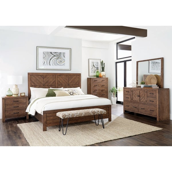 Archer Mojave Brown 6-piece Panel Bedroom Set