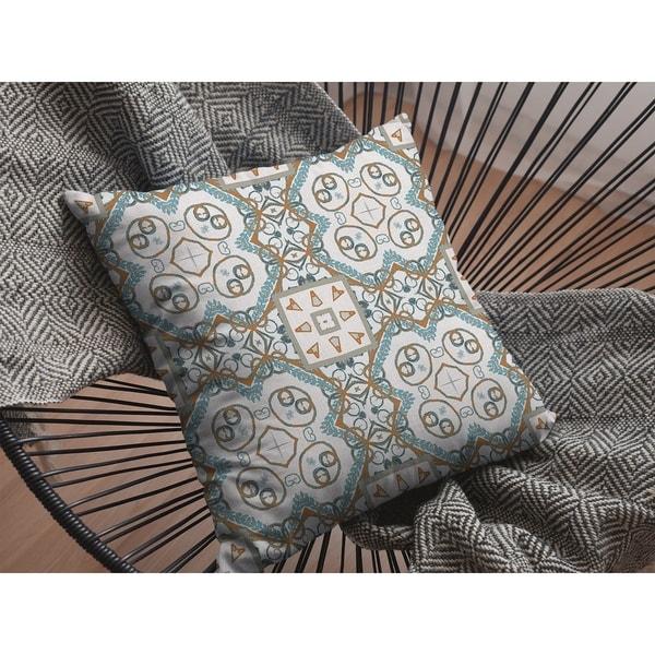 Open Mandala Suede Double Sided Decorative Pillow by Amrita Sen