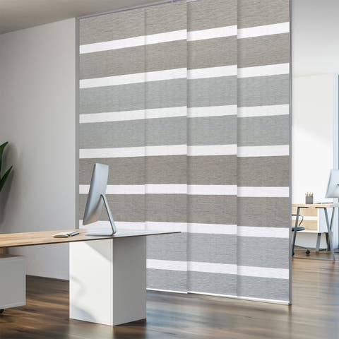 "GoDear Design Natural Woven Adjustable Sliding Panel, 51.5""- 86"" W x 96"" L"